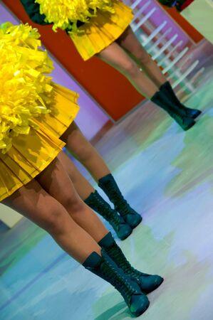 Young woman in authentic retro majorette uniform photo