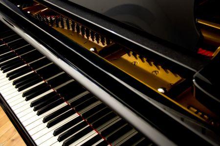 grand piano: Gro�ansicht des Grand Piano Keys Lizenzfreie Bilder