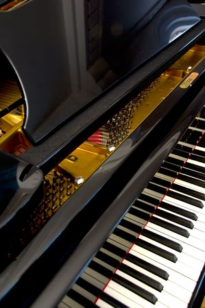 Closeup of Grand Piano Keys