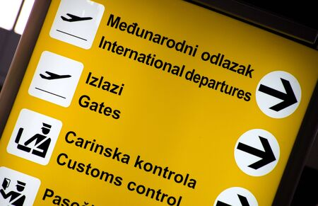 Airport sign - Flight Information Board