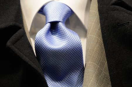 Modern business man suit with tie - fashion collection Banque d'images