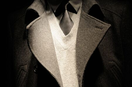 Modern business man suit with tie - fashion collection Stock Photo
