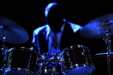 Drum Kit on the stage Stock Photo - 4271052