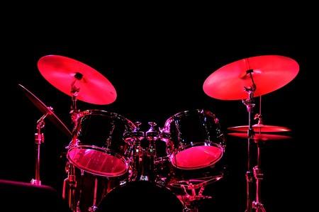 Drum Kit auf der Bühne