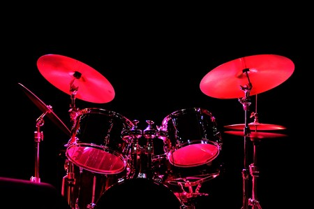 drum: Drum Kit on the stage