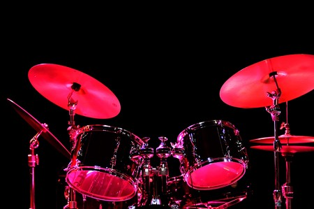 Drum Kit on the stage Stock Photo - 4271053