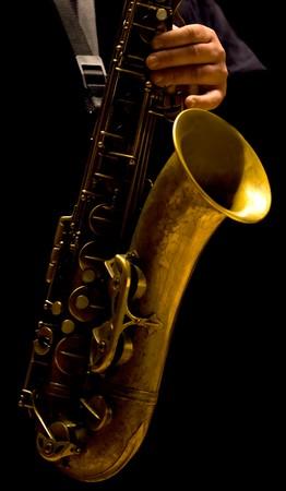 Man playing saxophone - Jazz music Reklamní fotografie
