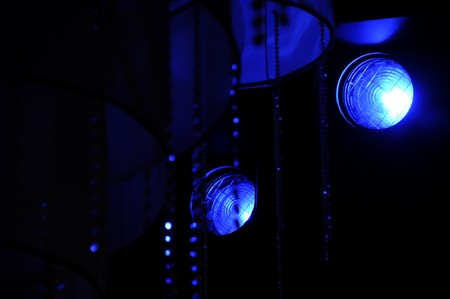 Stage lights - Studio prepared for production and shooting TV show photo