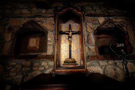 venerate: Statue of Jesus Christ on the cross
