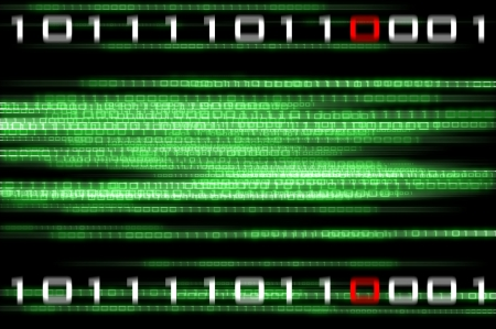 Matrix binary numbers background - computer generated
