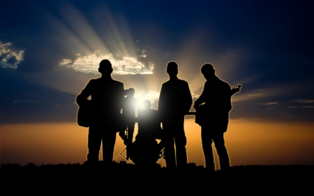 alternative rock: Silhouettes of rock band