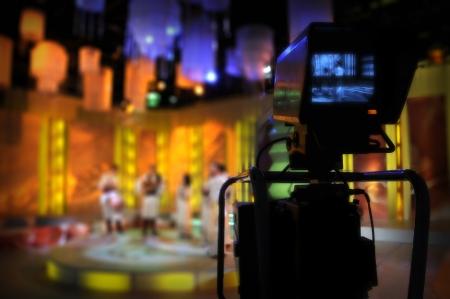 sucher: Video-Kamera Sucher - Aufzeichnung TV-Show im Studio