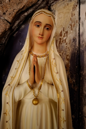 venerate: Statue of Blessed Virgin Mary