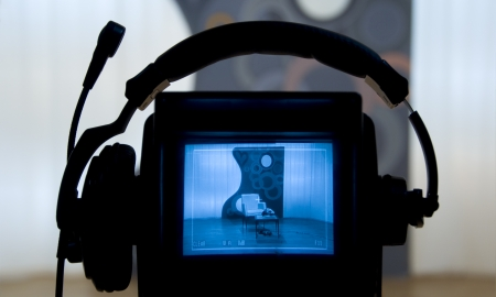 viewfinder: Video mirino - registrazione in studio TV - Parlare alla fotocamera
