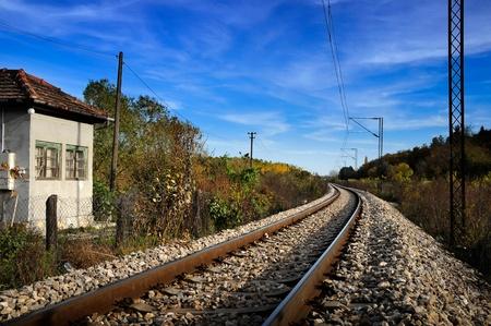 Railroad tracks in nature        Stock Photo - 15657782