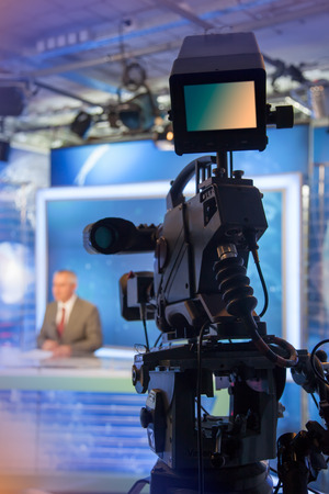 tv sets: Video camera - recording in TV studio - Talking To The Camera
