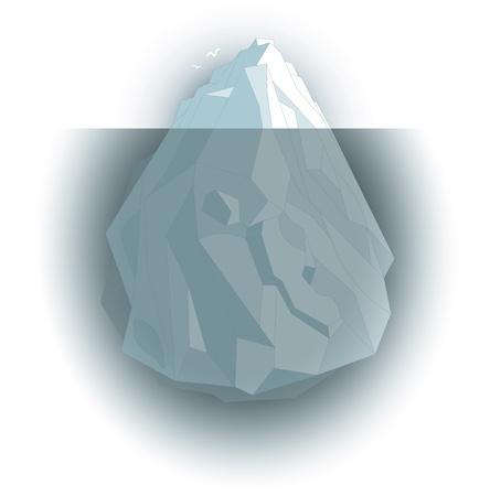 zichtbare en onzichtbare Iceberg