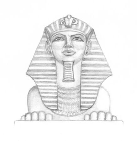 Majestic Sphinx looks down on you Stock Photo