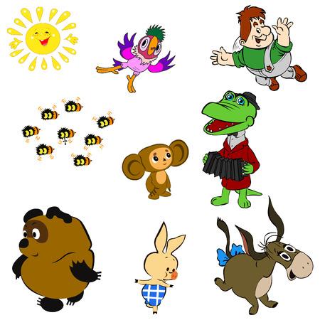 Characters of Soviet Cartoons Vector