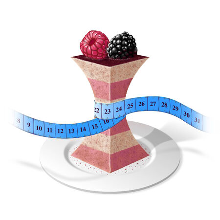 Shapely raspberry cake Stock Photo
