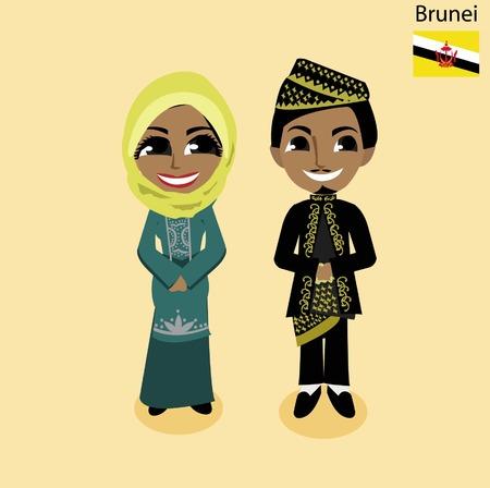 brunei: cartoon Brunei Illustration
