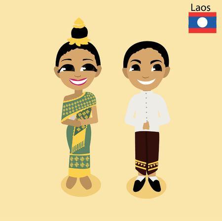 asean: cartoon ASEAN Laos Illustration