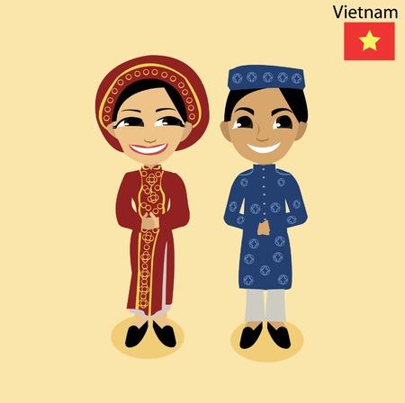 cartoon Viet Nam  イラスト・ベクター素材