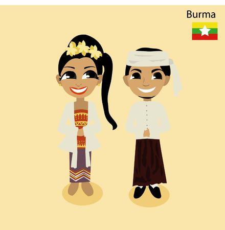 asean: cartoon ASEAN Burma