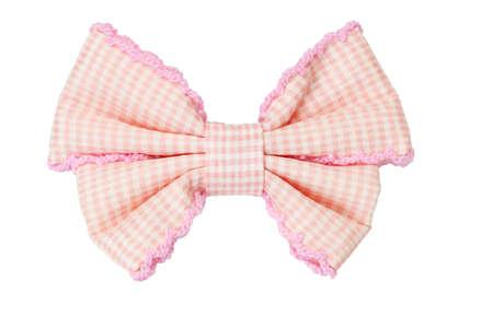 lazo rosa: Cinta de patr�n de arco marcada pelo aislado sobre fondo blanco