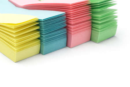 Close up of stacks of sticky packs background with copy space Stock Photo - 9767025