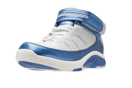 Basketball sport shoes, one side, left side on white background photo