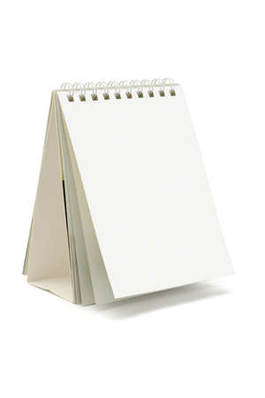 Blank desktop calendar standing on white background Stock Photo - 9767830
