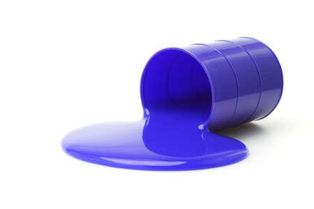 non toxic: Limos de color azul se derram� del contenedor sobre fondo blanco