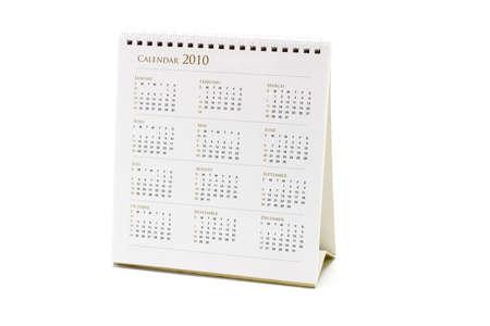 2010 desktop calendar on white background Stock Photo - 9853955