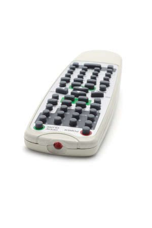 Wireless remote controller isolated on white background photo
