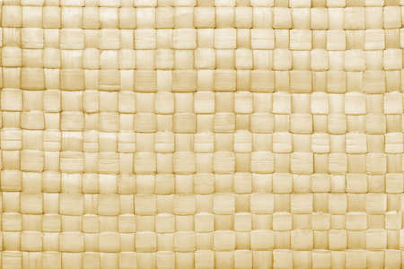 straw mat: Close up of woven palm leaves mat texture for background