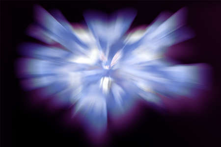Abstract burst of light in space background photo