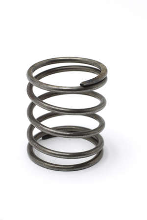 metal spring: Used metal spring isolated on white background Stock Photo