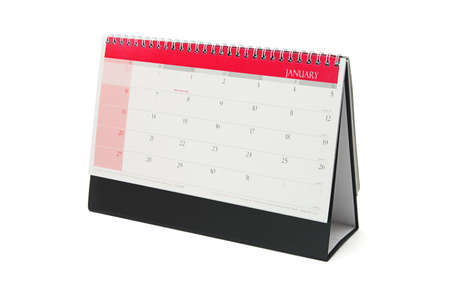 Desktop calendar showing the month of January Stock Photo - 9854413