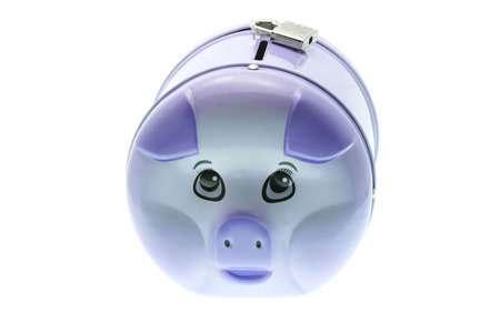 Piggy bank with padlock on white background Stock Photo - 10372379