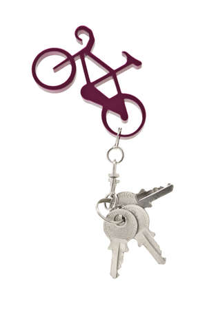 key fob: Bicycle key chain and a set of keys