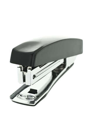 staplers: Closeup view of stapler on white background