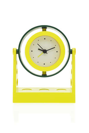 sideway: Alarm clock with turnable clockface - sideway and up down Stock Photo