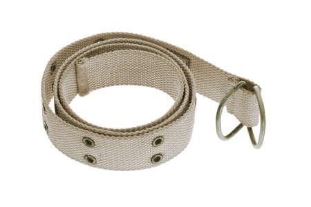 waistband: Canvass waist band on white background