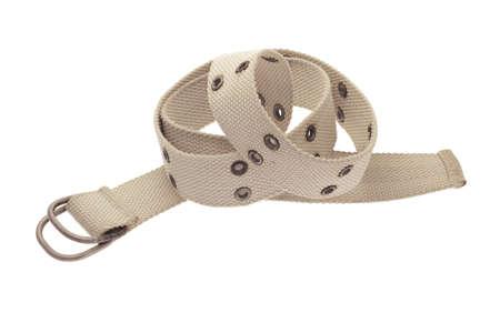 orifice: Canvass waist belt on white background