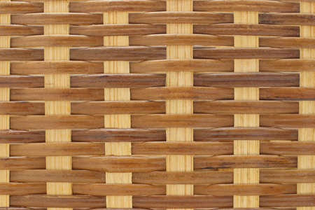Close up background texture of rattan wicker basket  photo