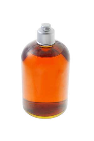unlabelled: Liquid soap in plastic bottle on white background
