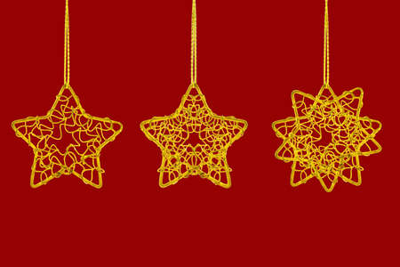 Star shaped design ornaments for Christmas tree decoration photo