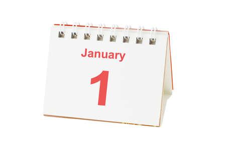 Desktop calendar showing January 1 Stock Photo - 10457358