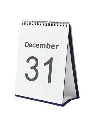 Desktop calendar showing December 31 isolated on white background Stock Photo - 10457366